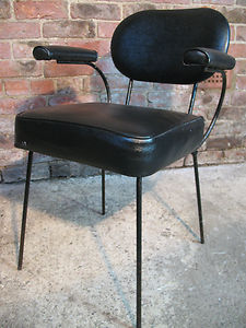 1950's metal string chair with metal rod legs (price on request)